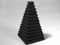 Κουτιά ασημικών τετράγωνα με ύψος 4cm