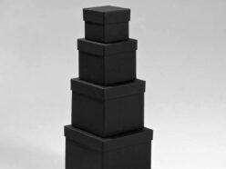 Κουτιά ασημικών μαύρα σχήμα «Κύβος»