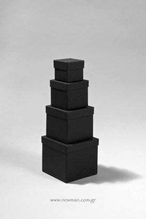 """Κουτιά ασημικών μαύρα σχήμα """"Κύβος"""""""