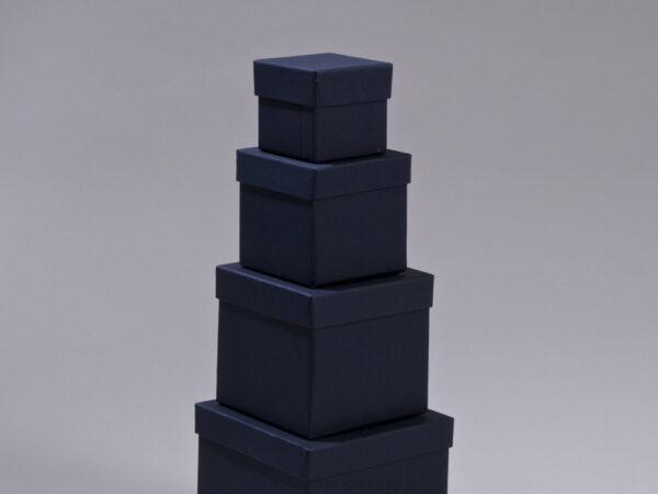 Κουτιά ασημικών μπλε Κύβος