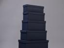Κουτιά ασημικών μπλε Παραλληλόγραμμα
