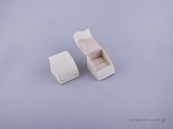 051480 - Κουτί δαχτυλίδι σχισμή εκρού