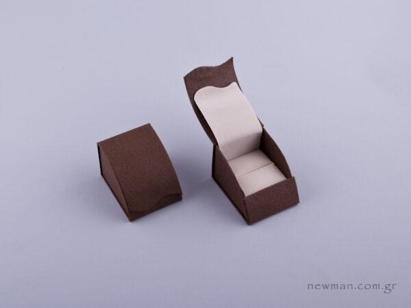 051420 - Κουτί δαχτυλίδι σχισμή καφέ