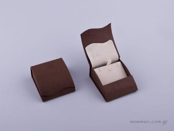 051423 - Κουτί Σταυρός/Σκουλαρίκια καφέ