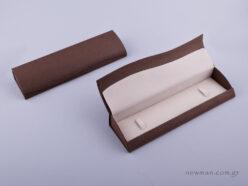051425 - Κουτί Βραχιόλι/Ρολόι καφέ