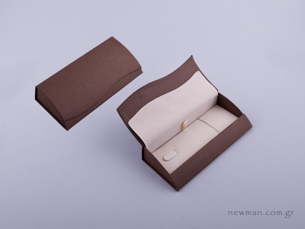 051426 - Κουτί κλειδοθήκη /μπρελόκ καφέ