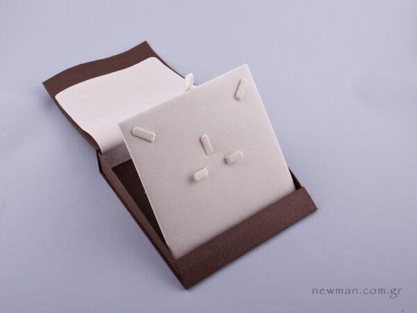 051430 - Κουτί σετ κοσμημάτων (μικρό) καφέ
