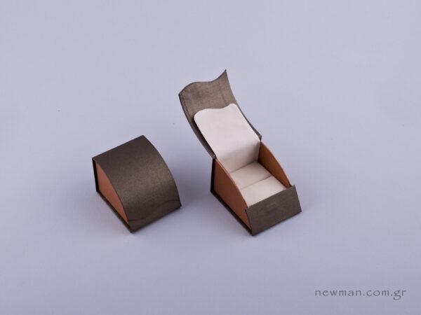 051479 - Κουτί δαχτυλίδι σχισμή πέρλα δίχρωμο