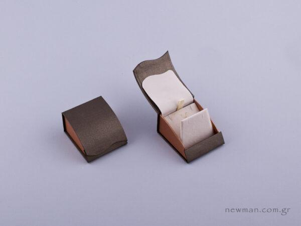 051469 - Κουτί μενταγιόν/Σκουλαρίκια πέρλα δίχρωμο