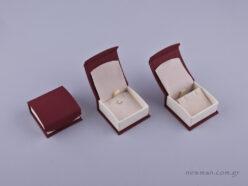 051592 - DRP Κουτί για μενταγιόν/σκουλαρίκια μπορντώ