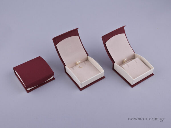 051593 - - DRP Κουτί για Σταυρό/Σκουλαρίκια (μικρό) μπορντώ