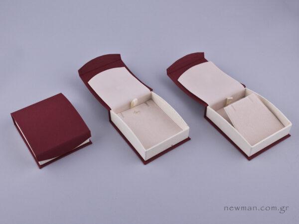 051594 - DRP Κουτί για Σταυρό/Σκουλαρίκια (μεγάλο) μπορντώ