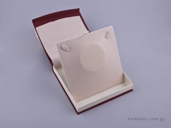 DRP Κουτί για κολιέ μπορντώ