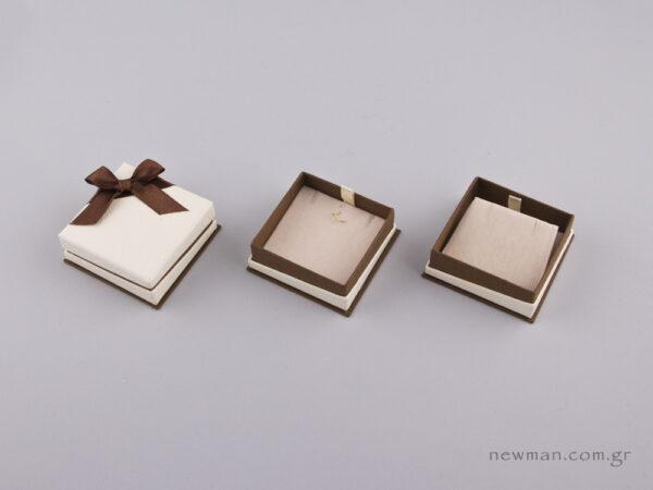 051442 - FSP κουτί για Σταυρό/Σκουλαρίκια Καφέ