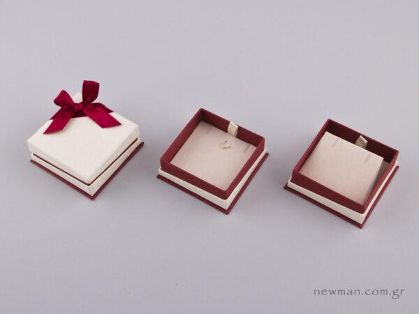 051442 - FSP κουτί για Σταυρό/Σκουλαρίκια Μπορντώ