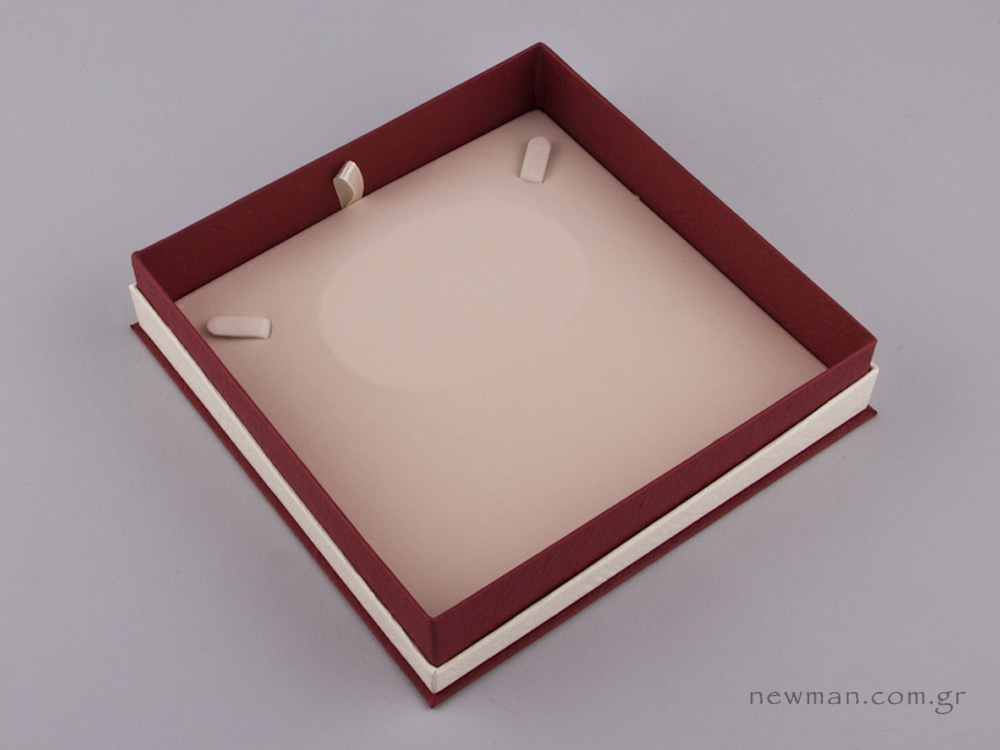 051447 - FSP κουτί για κολιέ Μπορντώ