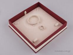 051448 - FSP κουτί για σετ κοσμημάτων Μπορντώ