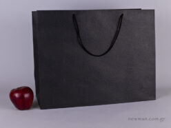 TLB 16 - embossed paper bag  BLACK
