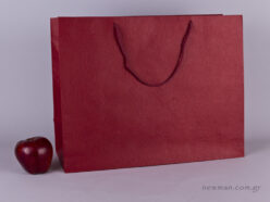 TLB 16 - embossed paper bag BURGUNDY