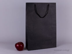 TLB 10 - embossed paper bag  BLACK