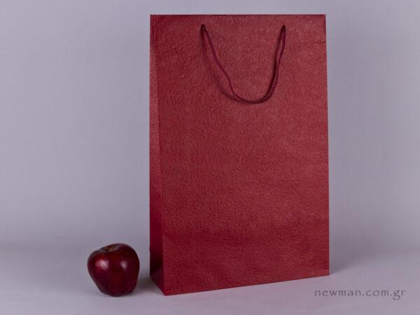 TLB 10 - ανάγλυφη τσάντα χάρτινη ΜΠΟΡΝΤΩ