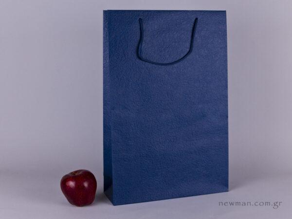 TLB 10 - ανάγλυφη τσάντα χάρτινη ΜΠΛΕTLB 10 - ανάγλυφη τσάντα χάρτινη ΜΠΛΕ