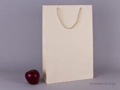 TLB 10 - ανάγλυφη τσάντα χάρτινη ΕΚΡΟΥ