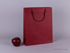 TLB 09 - embossed paper bag  BURGUNDY
