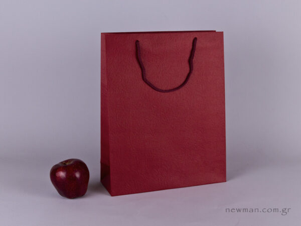 TLB 09 - ανάγλυφη τσάντα χάρτινη ΜΠΟΡΝΤΩ