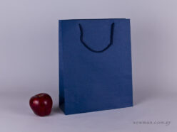 TLB 09 - ανάγλυφη τσάντα χάρτινη ΜΠΛΕ