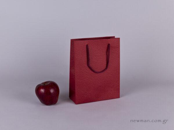TLB 07 - ανάγλυφη τσάντα χάρτινη ΜΠΟΡΝΤΩ