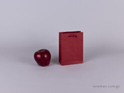 TLB 06 - embossed paper bag  BURGUNDY