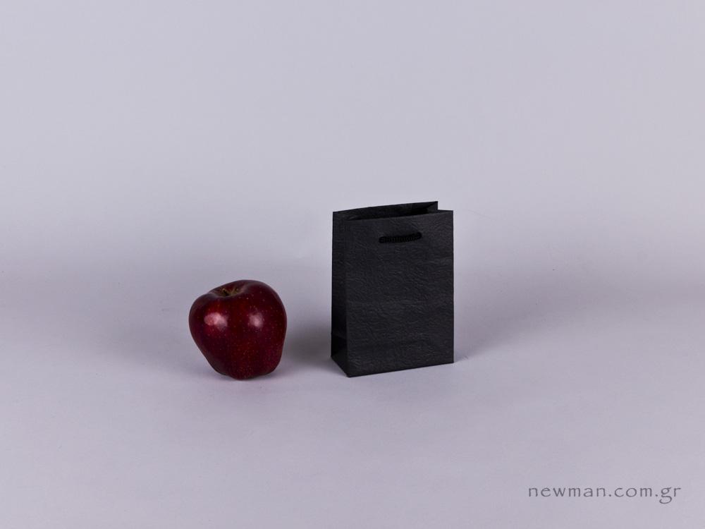 TLB 05 - ανάγλυφη τσάντα χάρτινη ΜΑΥΡΟ