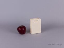 TLB 05 - ανάγλυφη τσάντα χάρτινη ΕΚΡΟΥ