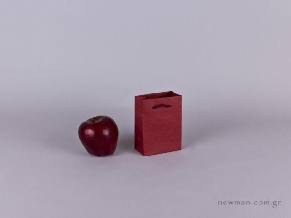 TLB 01 - ανάγλυφη τσάντα χάρτινη ΜΠΟΡΝΤΩ