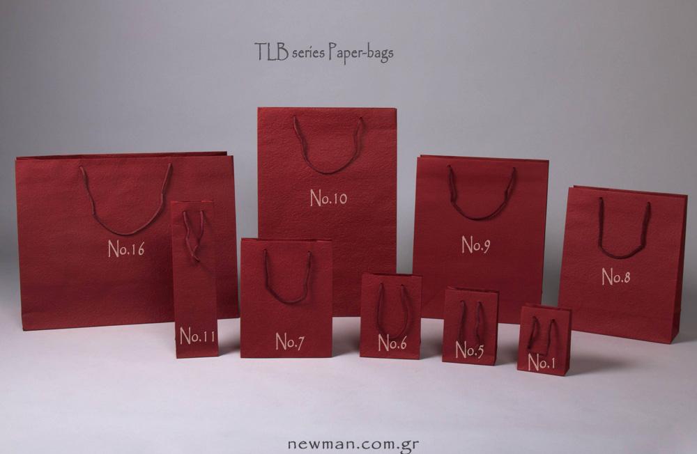 burgundy paper bags