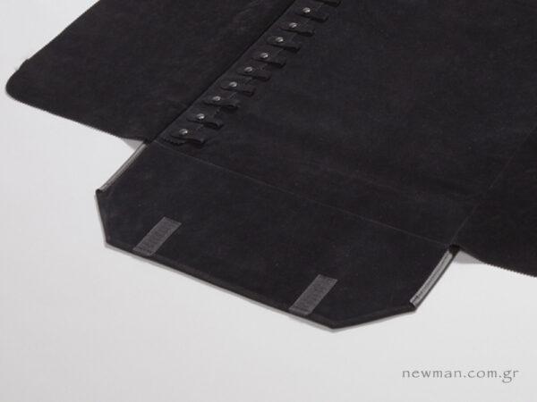 Εσωτερική φόδρα από μαύρο σουέτ