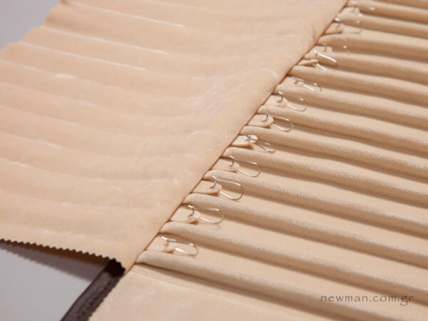 Brown pleather with ivory suede internal lining