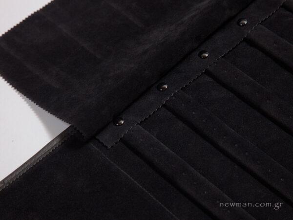 Jewellery roll for earrings - black