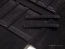 Μαύρη δερματίνη εξωτερικά & μαύρο σουέτ εσωτερικά