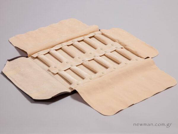 Πανί με 12 μαξιλαράκια/ρολά με κουμπι/κλιπ για δαχτυλίδια