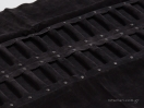 Μαύρο πανί με μαξιλάρια/ρολάκια για δαχτυλίδια