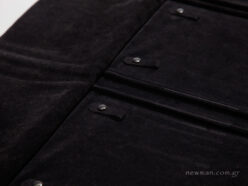 Black suede internal lining