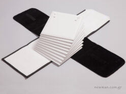 External black pleather and internal white nappa