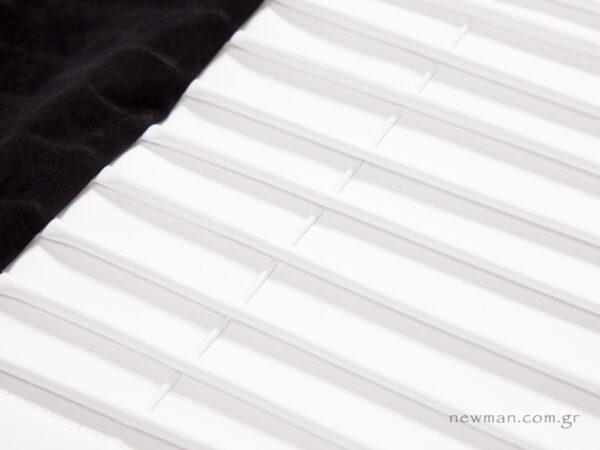 Εσωτερική φόδρα άσπρο νάπα με λάστιχα
