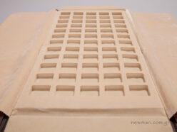 Πανί/ρολό με 60 θέσεις τετράγωνα χωρίσματα αφρολέξ