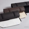 High-quality italian fabrics pleather, suede & nappa