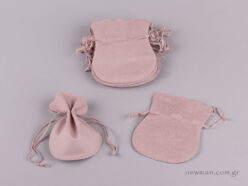 Suede pink pouch