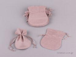 Πουγκί καστόρι οβάλ Ροζ