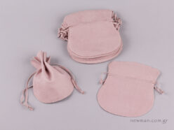 Suede pink pouch (big)